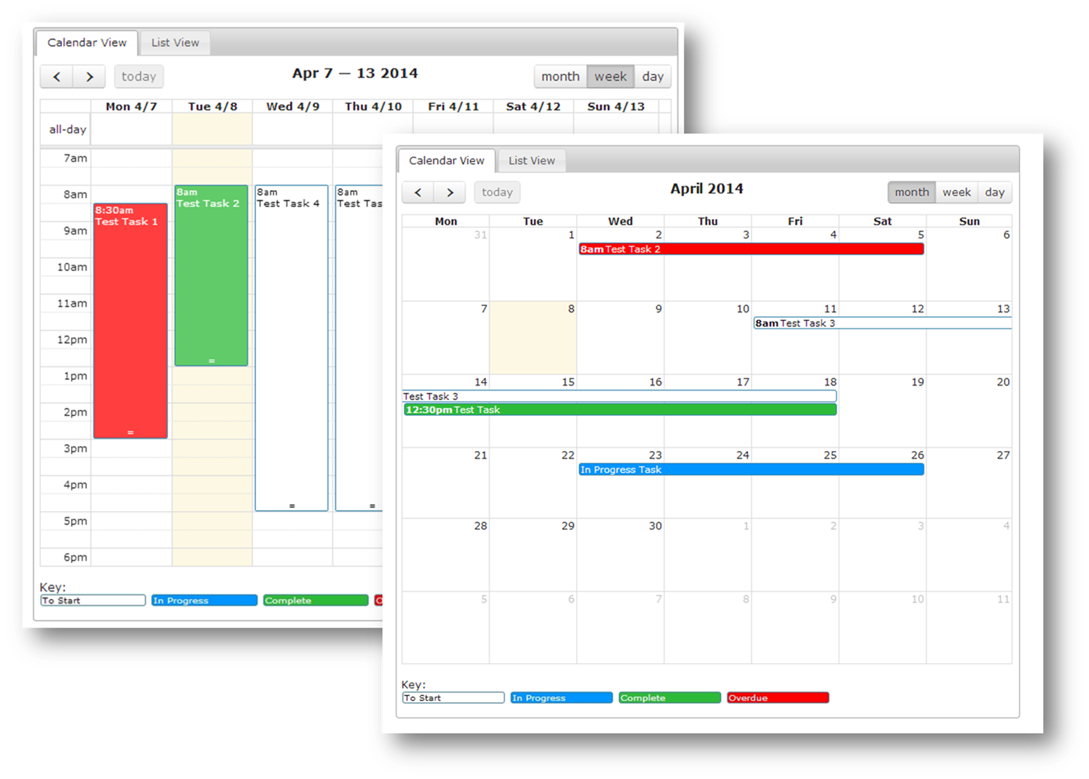 Ornavi Screenshot - Two Calendar Views