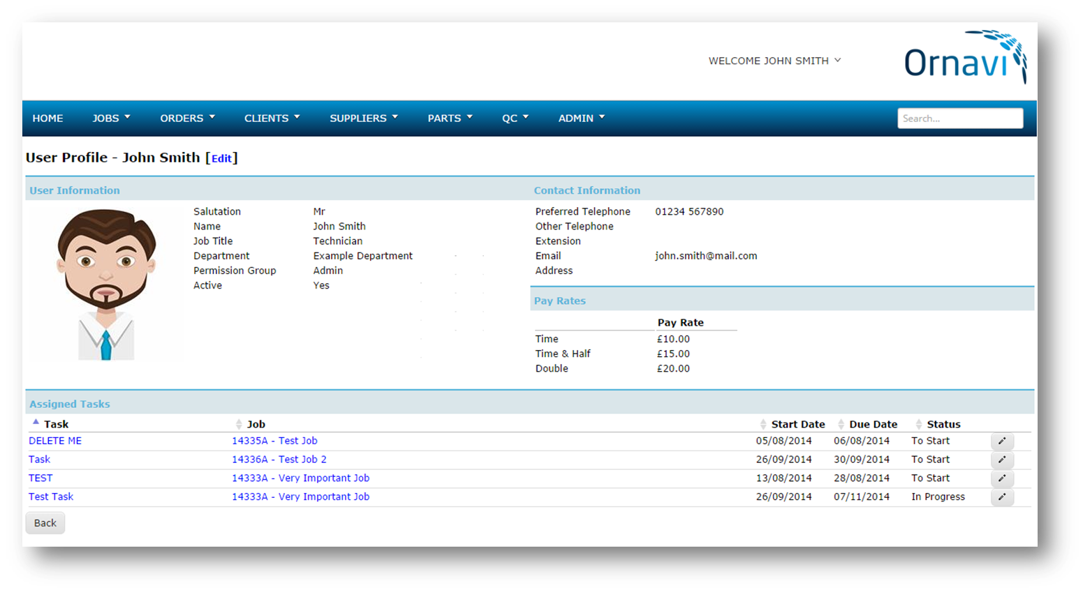 Ornavi Screenshot - User Profile
