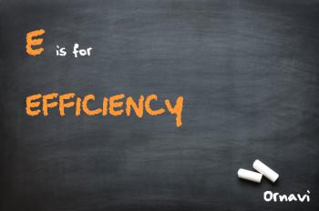 Blackboard - E s for efficiency
