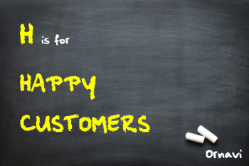 Blackboard - H is for Happy Customers