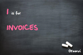 Blackboard - I is for Invoices