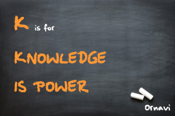 Blackboard - K is for Knowledge is Power