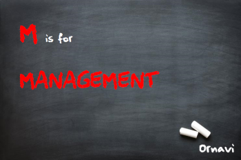 Blackboard - M is for Management