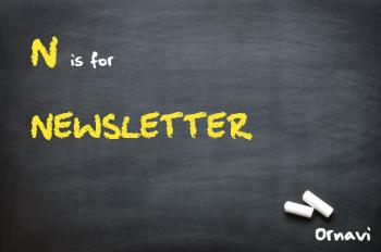 Blackboard - N is for Newsletter