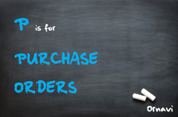 Blackboard - P is for Purchase Orders
