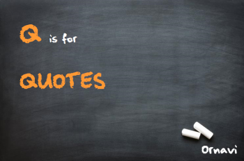 Blackboard - Q is for Quotes