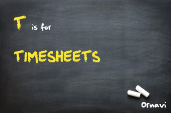 Blackboard - T is for Timesheets