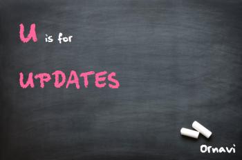Blackboard - U is for Updates