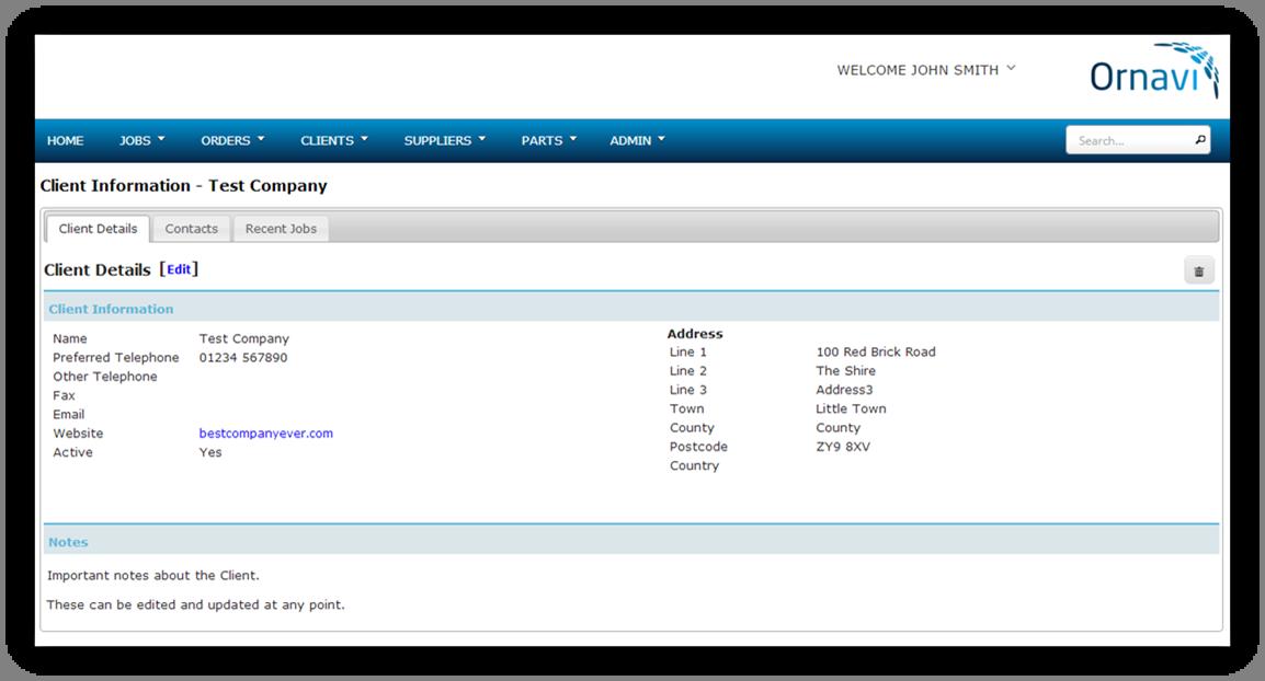 Client Folder - Client Details