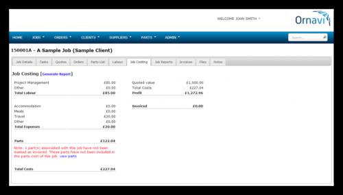 Job Folder - Job Costing