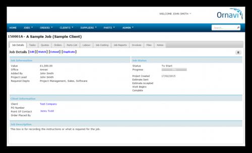 Job Folder - Job Details