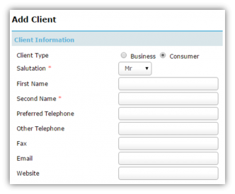 Add Client - Individual