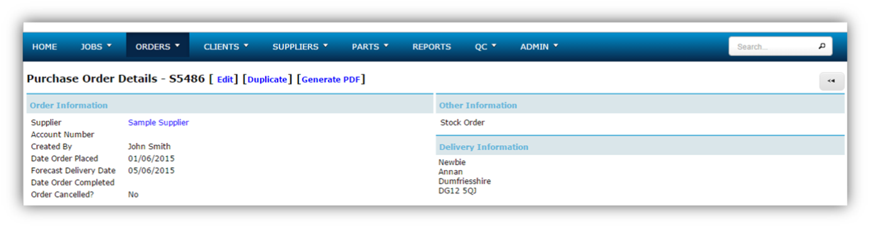 Stock Order Options