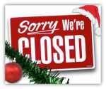 Closed for Christmas Sign