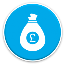 upfront costs icon - money bag