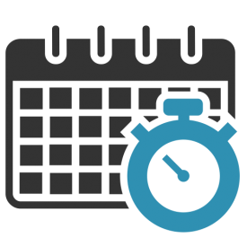timesheets - calendar and stopwatch