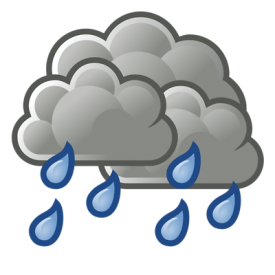 Bad weather - clouds and rain